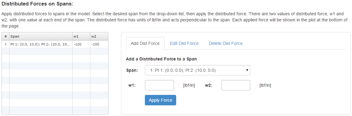 Specify Distributed Forces